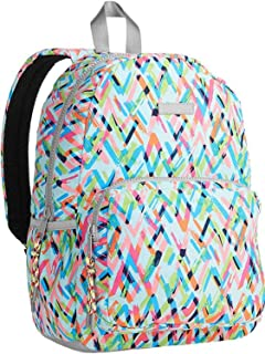 "No Boundries Geometric Mint Abstract Print 16"" Dome Backpack, Student School Bag"