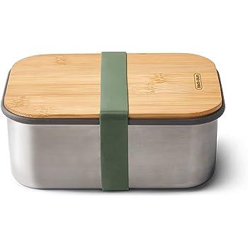blum Caja para s/ándwiches de Acero Inoxidable 22.3 x 15 x 5.2 cm Verde Oliva Acero Inoxidable Color Negro y Azul black