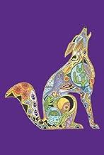 Toland Home Garden Animal Spirits Howling Wolf 28 x 40 Inch Decorative Native Spiritual Desert Wolves House Flag