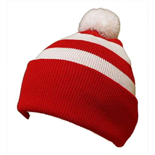 327d0339b24 Red and White Beanie  Amazon.co.uk