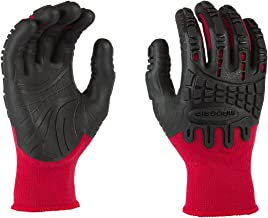 Mad Grip F50 Thunderdome Impact Gloves, Red/Black, X-Large