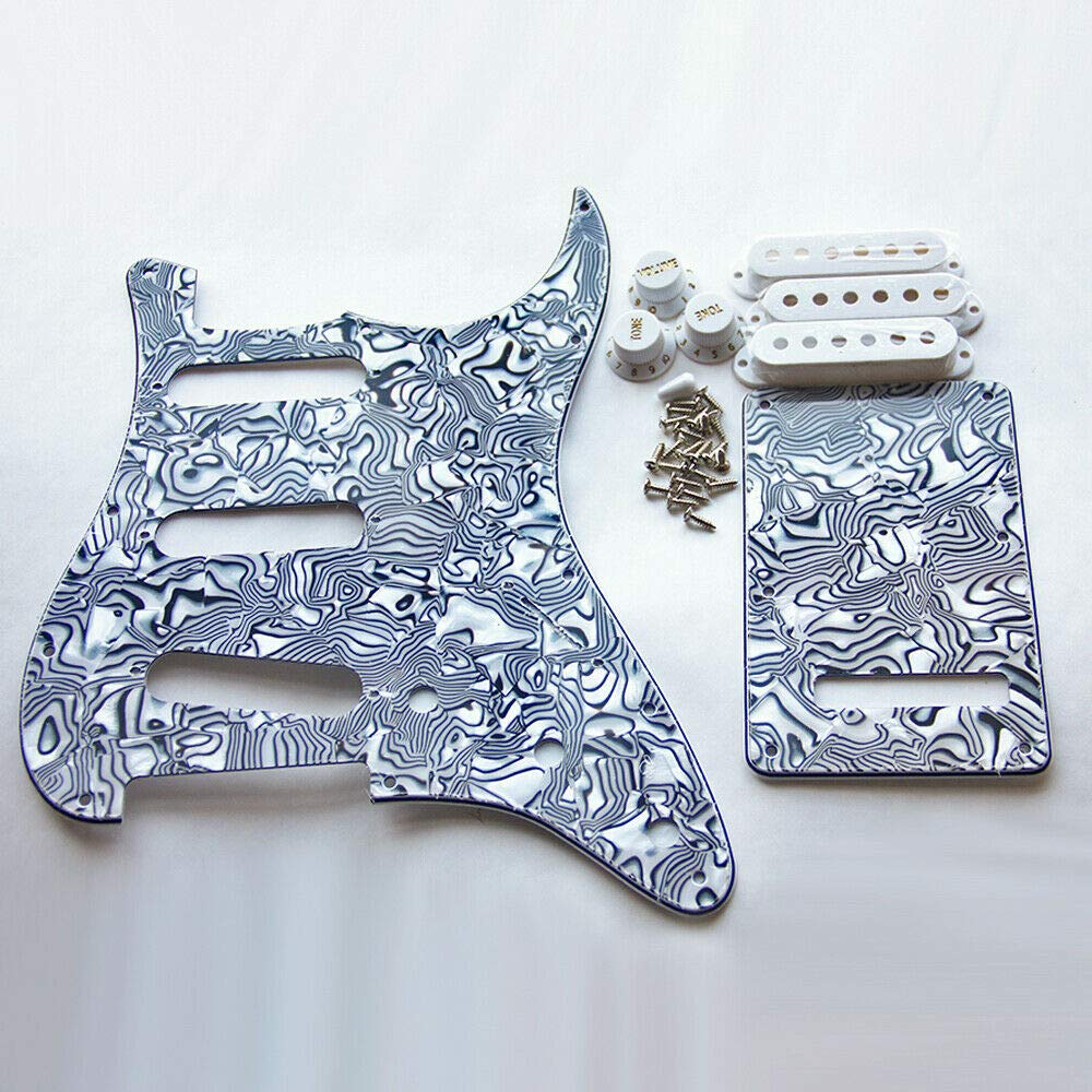 Guitar Parts Set 2021 autumn and Popularity winter new of SSS Cover Pickguard White Cavity Trem