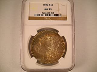 1885 P Morgan Silver Dollar $1 MS-63 NGC