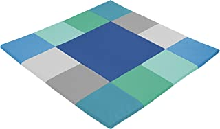 ECR4Kids SoftZone Square Dance Activity Mat - Soft Foam Play for Infants and Toddlers Plush, Contemporary
