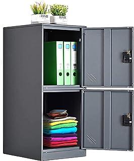 MECOLOR Petit casier vertical à un niveau avec verrou à 2 ou 3 compartiments de rangement pour employé, maison, bureau, éc...