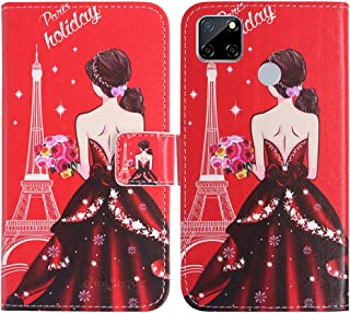 TienJueShi Dream Girl Fashion Stand TPU Silicone Book Stand Flip PU Leather Protector Phone Case For Oppo A15s 6.52 inch C...