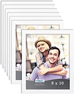 Icona Bay 8x10 Picture Frame Set 8 x 10 Frame, Tabletop and Wall Hang Photo Frames, Impresia Collection