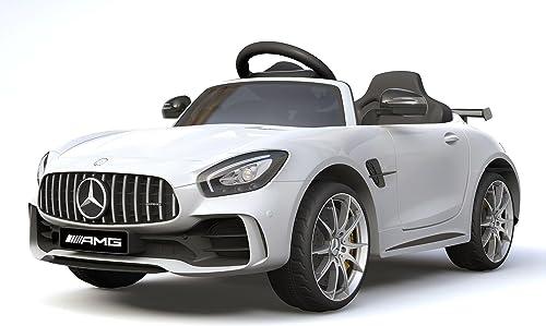 cómodamente Licensed Mercedes Benz GTR 12V Motors Kids Electric Electric Electric Ride On Car blanco  suministro directo de los fabricantes