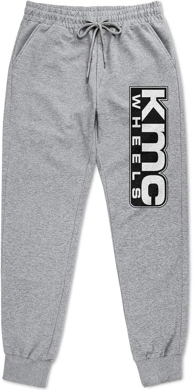 YYWCJ Mens Sports Free Shipping Cheap Bargain Gift KMC Wheels Logo Grey Sweatpants Jogger Tapered Over item handling ☆