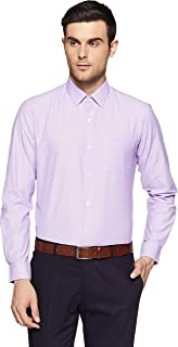 Peter England Men's Striped Slim Fit Synthetic Formal Shirt
