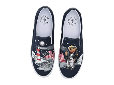 Polo Ralph Lauren Thompson P (Navy Multi Bear Lengths Canvas II) Men