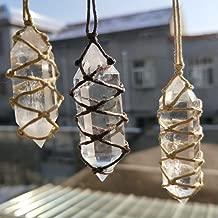 DRhomehouse Fluorita Natural Cuarzo Piedra de curaci/ón cristalina Colorida Punta de Varita Hexagonal