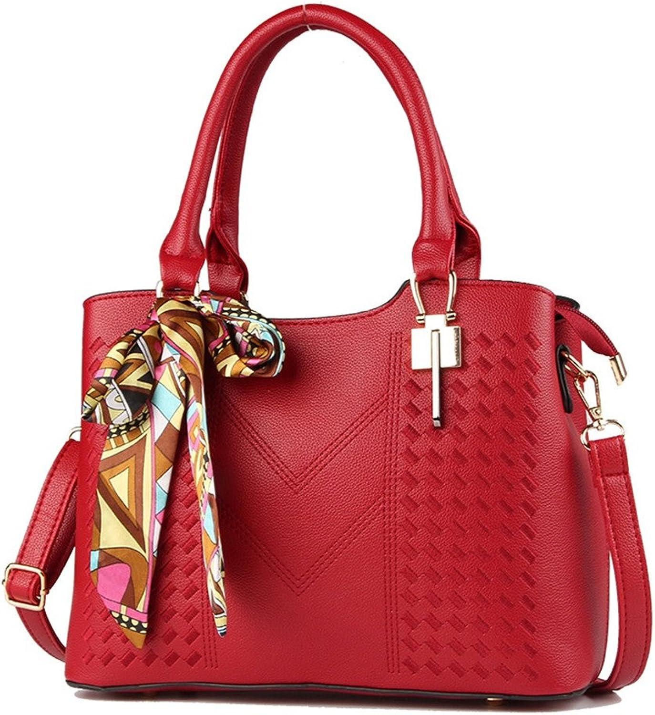 ALLHM Handtasche Handtasche Handtasche Lady Fashion Umhängetasche mit großer Kapazität Gitter Messenger Bag Designer (Farbe   Rot, größe   OneGröße) B07MKGKFYG  Erschwinglich c2946a
