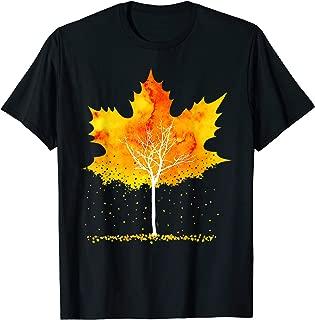 Maple Leaf Autumn Tree Orange Fall Leaves Season Gift T-Shirt
