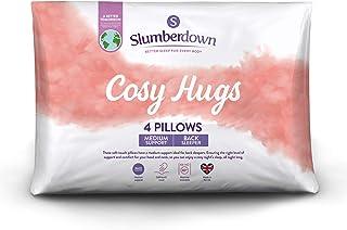 Slumberdown Big Hugs Lot de 4 oreillers en Polycoton Blanc 74 x 48cm