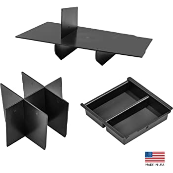 Vehicle OCD - Center Console Divider, Tray, and Glove Box Organizer Compatible with Toyota Tacoma (2016-2020) - Made in USA