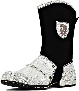 osstone Bottes de Cowboy Moto pour Hommes Biker Mode Zipper Bottes Chukka en Cuir Chaussures décontractées OS-5008-1-H10-E-R