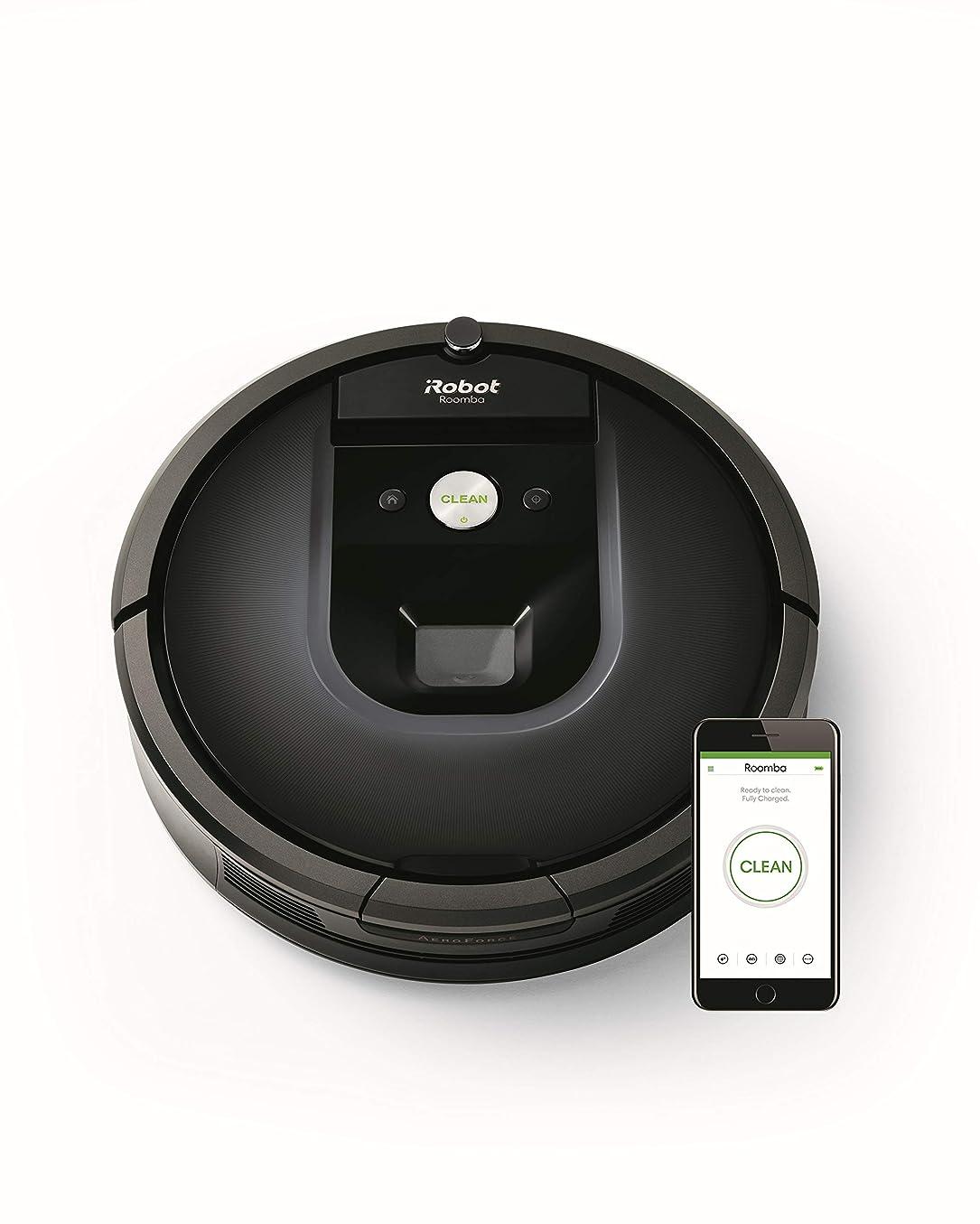 前ケニアスキニー【特別仕様】ルンバ985 アイロボット ロボット掃除機 Wi-Fi対応 スマホ連動 マッピング 自動充電?自動再開 強い吸引力 カーペットブースト R985060【Alexa対応】