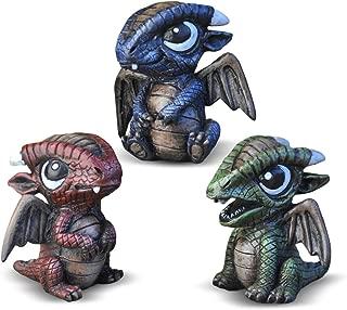 Georgetown Home & Garden Miniature Baby Dragons Assorted Garden Decor, Set of 3
