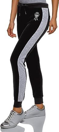 oodji Ultra Mujer Pantalones Deportivos con Inserciones