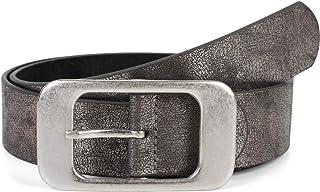 styleBREAKER cinturón unisex monocolor con una gran hebilla rectangular, acortable 03010100