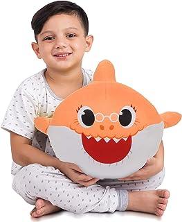Franco Kids Bedding Soft Plush Cuddle Pillow Buddy, One Size, Baby Shark Orange Grandma
