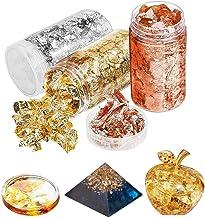 Vergolden Basteln 5 Gramm pro Flasche 2 Flaschen Blattgold Flocken Foil Flocken Silber Gold Imitation Metallisch Flocken f/ür Kunst Malerei Nagel Kunst und Dekoration