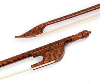 Professional German Baroque Style Beautiful Snakewood Violin Bow