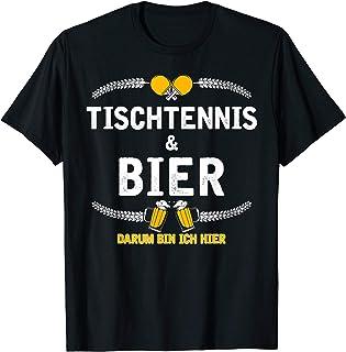 Tischtennis Und Bier T-shirt   Witziges Bier Party Geschenk