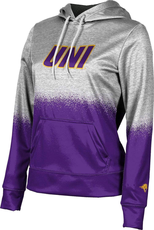 University of Northern Iowa Girls' Pullover Hoodie, School Spirit Sweatshirt (Spray Over)