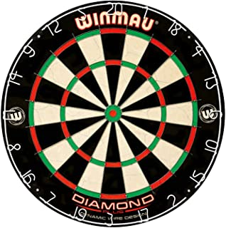 Winmau Diamond Plus Tournament Bristle Dartboard with Staple-Free Bullseye for Higher..