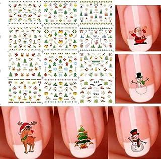 Uion Christmas Nail Art Sticker Snowflake and Cute Snowman Nail Decal (G001-012)