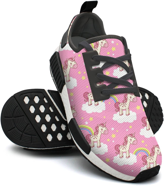 Pink Cute Nana Unicorn Rainbow Heart Star Cute Gym Womans Running shoes NMD