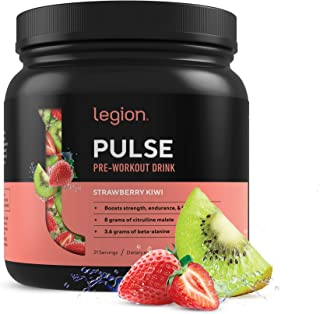 Legion Pulse Pre Workout Supplement - All Natural Nitric Oxide Preworkout Drink to Boost Energy & Endurance. Creatine Free...