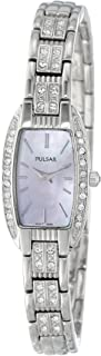 Women's PEG987 Crystal Accented Dress Silver-Tone Stainless Steel Watch
