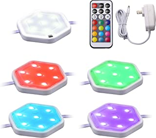 BLACK+DECKER LEDUC-PUCK-5RGB LED Puck Light Kit, Tool-Free Install, Dimmable, 5-Pack, RGBW (Red, Green, Blue, Cool White)