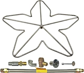 Spotix HPC Penta Fire Pit Burner Kit (FPS-PENTA36KIT-LP-MSCB), 36-Inch Burner, High Capacity, Match Light, Propane