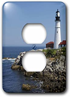 3dRose lsp_90737_6 Portland Head Lighthouse, Cape Elizabeth Me Us20 Krs0002 Keith and Rebecca Snell Light Switch Cover