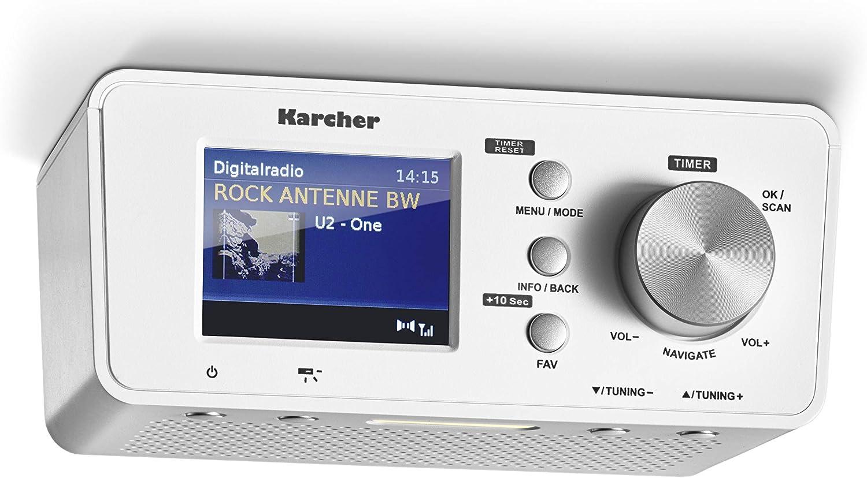 Karcher Ra 2035d Unterbauradio Mit Dab Ukw Radio Je 20 Senderspeicher Bluetooth Wecker Dual Alarm Countdown Timer Led Licht Heimkino Tv Video