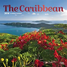 The Caribbean 2018 12 x 12 Inch Monthly Square Wall Calendar with Foil Stamped Cover, Travel Island Tropical Beach