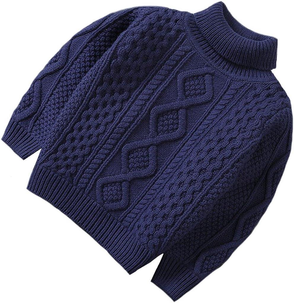 XINNE Ni/ñas Y Ni/ños Su/éter De Punto Vintage Cuello Jersey Unisex Beb/é Oto/ño Invierno Espesado Prendas De Punto Sweater