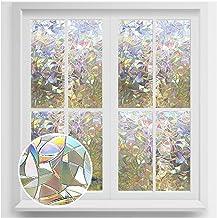 Rabbitgoo Window Film 3D No Glue Static Decorative Films Glass Window Film Anti UV, Dazzling Effect, 44.5 x 200 Centimeter...