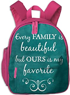 ADGBag Mochila para niños Mochila Escolar Teal Quotes Inspirational Family Quote Love Children's/Kids School/Nursery/Picni...