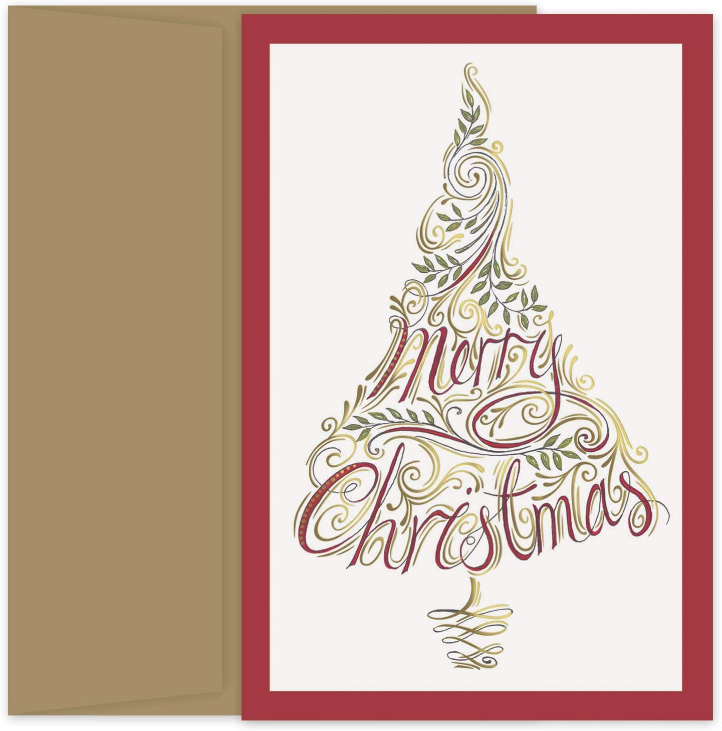 72 Pack Masterpiece Studios Beach Wreath Holiday Cards with Envelopes