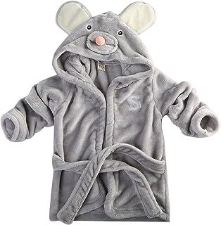Baby Boy Girl Animal Design Bathrobe Baby Hooded Nightgown Bath Towel Kids Fashion Clothes