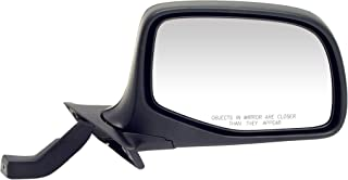 Dorman 955-228 Passenger Side Manual Door Mirror for Select Ford Models, Black and Chrome