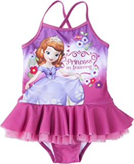 Sofia the First Toddler Girl's one Piece Tutu Swimsuit 2T-5T