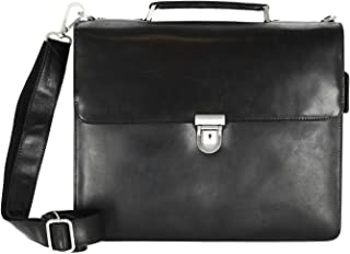Leonhard Heyden Cambridge Briefcase 3 Compartments XL Redbrown