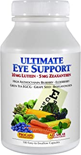 Andrew Lessman Ultimate Eye Support 180 Capsules - 10mg Lutein, 5mg Zeaxanthin, Bilberry, Key Nutrients to Support Eye Health and Promote Healthy Vision. No Additives. Easy to Swallow Capsules