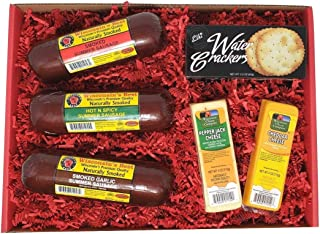 WISCONSIN'S BEST and WISCONSIN CHEESE COMPANY'S | Snacker Gift Basket | features Smoked Summer Sausages Sampler | 100% Wisconsin Cheeses and Crackers - A Perfect Snack or Gift.